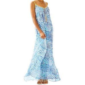 Lilly Pulitzer Kendra Maxi Dress, Blue Tang Gang
